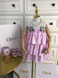 Discount girls princess dress pattern - Hot sale 2019 brand flower girl dresses Polka dot sling pattern high quality baby girl clothes Kids Princess dress toddl