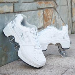 2019 Agloat подлинные изменяющие форму обувь роликовые коньки взрослые мужские роликовые коньки женские роликовые коньки встряхнуть звук четыре колеса на Распродаже