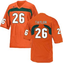 Discount ed reed jersey Sean Taylor Stitched Men's Miami Hurricanes Ray Lewis Michael Irvin Brad Kaaya Ed Reed Custom White Orange Green Ga