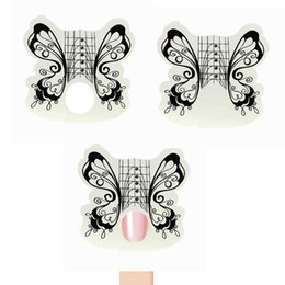 Butterfly Stickers For Papers Australia - Tools Form 100pcs White Black Butterfly s Form Paper Stickers for Gel Nail Art Nail Extensions Build Gel Nail Shape