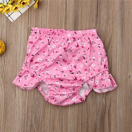 baby floral boots UK - Toddler Infant Baby Girl Floral Shorts PP Nappy Wings Shorts Flower Summer Cute 3-24M