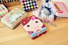 $enCountryForm.capitalKeyWord Australia - Free shipping 100pcs Lovely Metal Rectangular Jewelry Storage Box Candy Tin Box Organizer Holder Trinket Gift Mini Cute