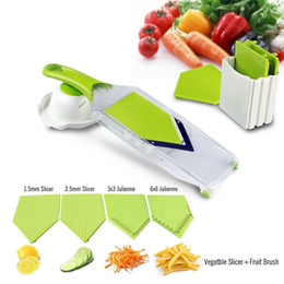 Cutter vegetable diCer online shopping - Birthday Party Mandoline Slicer Vegetables Cutter With Stainless Steel Blade Carrot Grater Onion Dicer Slicer Kitchen Accessories