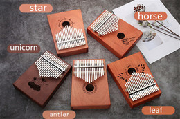 Wholesale C003 High quality Keys Kalimba Wood Mahogany Body Thumb Piano Musical Instrument accessories colors can be choosed