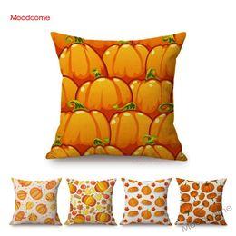 $enCountryForm.capitalKeyWord Australia - Gold Autumn Fall Pumpkin Harvest Art Thanksgiving Day Decoration Throw Pillow Car Pillow Case Cotton Linen Sofa Cushion Covers
