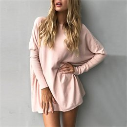 $enCountryForm.capitalKeyWord NZ - Pull Femme 2019 Autumn Casual Long Sweater Women Batwing Long Sleeve Pullover Baggy Jumper Solid Knitted Tops Knitwear Plus Size