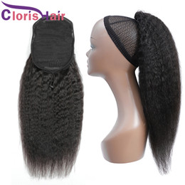 peruvian hair clip cheap NZ - Indian Virgin Ponytail Hair Extensions With Clips In Coarse Yaki Drawstring Ponytail For Women Cheap Kinky Straight 100% Human Hair Ponytail