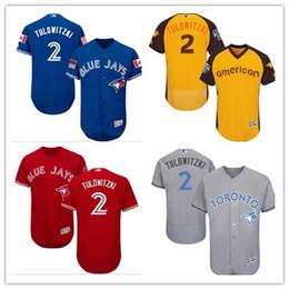 284fc2a0a women YOUTH Men s Majestic Toronto Blue Jays  2 Troy Grey Alternate Flex  Base Authentic Collection Jersey