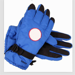 gloves for fingering NZ - Brand Down Gloves Canada Windproof Warm Fingers Glove Winter Goose Feather Mittens Designer Skiing Outdoor Gloves for Men Women Handwear