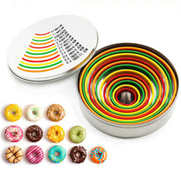 $enCountryForm.capitalKeyWord Australia - 12pcs set Fruit Cookie Cutter Mold Color Mousse Ring Circle Mini Stainless Steel Mould Biscuit Fondant Cake DIY Decorating Tools