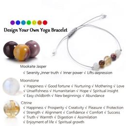 Ingrosso Nature Stone Bracciale Donna Mookaite Moonstone Citrino Yoga Gift For Women Inner Power Braccialetto di piacere altruista