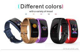 Smart Watch Grey Phone Australia - QS100 Smart Bracelet Smart watch Blood Pressure Heart Rate Monitor Fitness Tracker Bracelet Android&IOS Smart Wristband