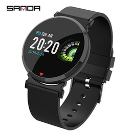 New Watch Touch Screen Australia - Bluetooth Smart Watch Men New SANDA Touch Screen Waterproof Heart Rate Tracker Blood Pressure Smartwatch Women for IOS Android Dropshipping
