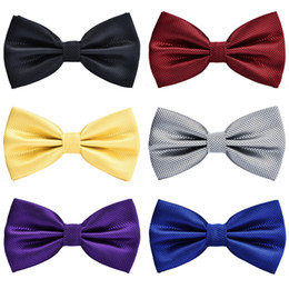 Bowties For Women Australia - New Good Quality Bowtie For Men Women Wedding Party bow tie Butterfly Black Red White Mens Bowties
