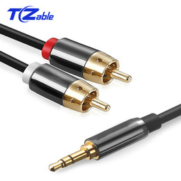 $enCountryForm.capitalKeyWord Australia - 3.5MM To 2RCA Connector Adapter Wiring A Two Audio Double Lotus Line Male To Male For DVD Computer Amplifier Set-Top Box Speaker