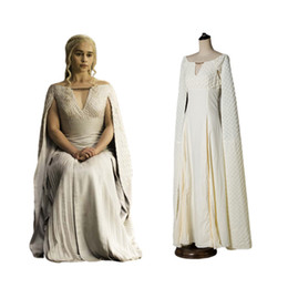 $enCountryForm.capitalKeyWord Australia - Game of Thrones Daenerys Targaryen Costumes Trendy Clothing Cosplay Dress White Long Halloween Party Dress New Stylish Ball Gowns for Women
