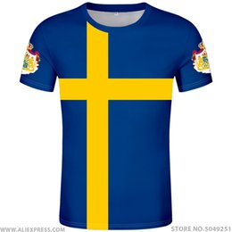 Flags nations online shopping - SWEDEN t shirt diy free custom made number swe T Shirt nation flag se sverige swede swedish country college print photo clothing