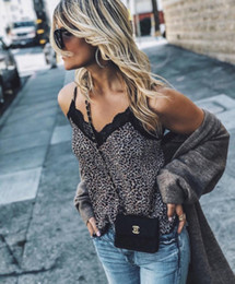 $enCountryForm.capitalKeyWord Australia - Sexy Women V Neck Leopard Print Cami Tank Vest Blouse Lace Crop Top Clubwear drop shipping