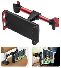 "Tablet Cradle Holder Car NZ - Headrest Phone Tablet Car Mount 360 Degree Adjustable Car Seat Cradle Holder for iPad Samsung iPhone and More 4-11"" Devices"