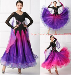 ballroom standard dance dresses Australia - Women Ballroom Competition Dance Dress 2020 High Quality Elegant Standard Waltz Dance Skirt Long Sleeve Ballroom Dancing Dresses