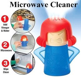 Wholesale Microwave Oven Steam Cleaner Angry Mama Easily Clean With Vinegar and Water Steam Cleans Disinfects Household Kitchen Tools Cleaning