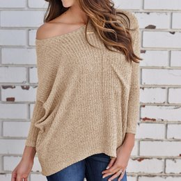 One Shoulder Tees Australia - Fashion Loose Tops Women One Shoulder T-shirt Summer Style Pullover Long Sleeve Tee Tops Casual Streetwear Solid Color 6Q0543