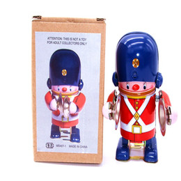 Best Robot Gift Australia - [TOP] Classic collection Retro Clockwork Wind up Metal Walking Tin brass military band robot toy Mechanical toys kids best gift