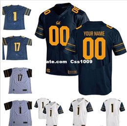 Football Numbers Australia - Custom California Golden Bears College Football 2017 Cal navy blue white Stitched Any Name Number 3 Bowers 8 Rodgers Lynch Men Jerseys