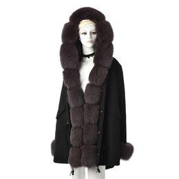 $enCountryForm.capitalKeyWord Australia - Tatyana Furclub Real Fur Parka For Women Winter Outwear Thick Warm Fur Jacket With Natural Fox Collar brow Parkas Grey Coats