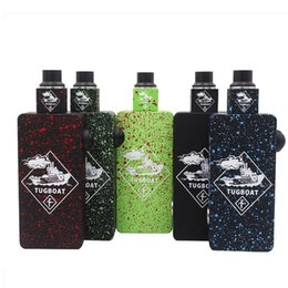 $enCountryForm.capitalKeyWord Australia - Tugboat Box Mod Kit with Colorful tuglyfe Unregulated mod Cubed RDA Mechanical velocity rda Tuglyfe Portable box mod Vaporizer