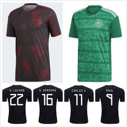 a860fa1e415 DHL Free Shipping 2019-2020 Mexico Jerseys GOLD CUP Soccer Jerseys Mejico  Home Black KIT 14 CHICHARITO 11 CARLOS 22 H.LOZANO football SHIRT
