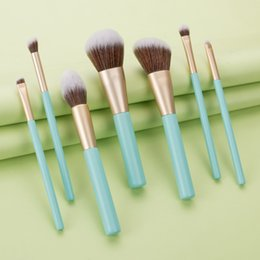 cosmetic beauty style Australia - 7pcs Makeup Brushes Kit Wooden Handle Cosmetics Brush Set Nylon Bristles Powder Highlighter Eyeshadow Brush Beauty Tools Portable Style