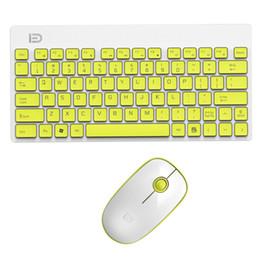 $enCountryForm.capitalKeyWord Australia - FD 2.4GHz Silent Wireless Technology Mini Portable Wireless Keyboard and Mouse Set(White Yellow)