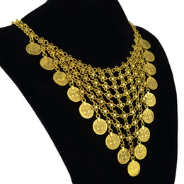 $enCountryForm.capitalKeyWord NZ - Golden Silver Coin statement Necklace Turkish Flower Chainmail Coin Collar Cleopatra Choker Kuchi Afghan Belly Dancer Tribal Chic Gypsy