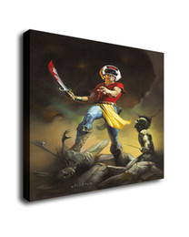 fantasy art oil paintings Australia - Fantasy Art The Helmet Warrior,Oil Painting Reproduction High Quality Giclee Print on Canvas Modern Home Art Decor