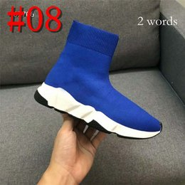 $enCountryForm.capitalKeyWord Australia - hot sale Sock Boots men women Speed Trainer Black Fashion Socks Boots Sneaker Trainer shoes 34-44 with 2 words or 10 words logo