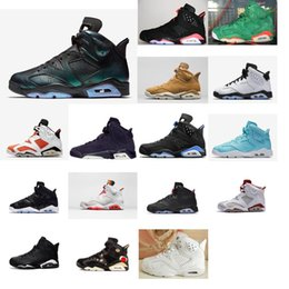48f7134495d2 Women Jumpman 6s basketball shoes retro vi white Black Infrared chameleon  Green Glow Boys Girls Kids j6 air flights sneakers J6 with box