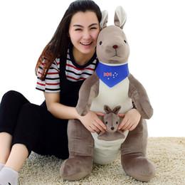$enCountryForm.capitalKeyWord Canada - Dorimytrader New Big AU Kangaroo Plush Toy Cute Stuffed Animal Kangaroo Doll Pillow for Baby Gift 39inch 100cm DY60175