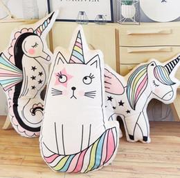 $enCountryForm.capitalKeyWord Australia - Printed Cartoon Pillow Adult Children Home Sofa Cartoon Hippocampus Cat Cute Pillows Home Decorations Photo Props