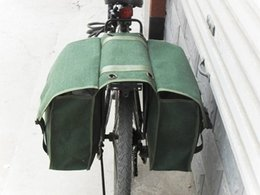Camel Water Pack Australia - Bicycle Rack Back Tail Carrier Trunk Canvas Bag Thicken Double Pannier Bag Rear Seat Camel Packs #367411