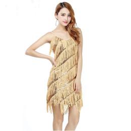 $enCountryForm.capitalKeyWord Australia - New Sequined High Quality Sexy Tassel Latin Dance Dress Fringe Latin Dance Costumes for Women on sale