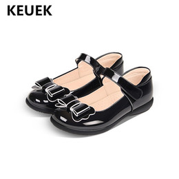 Toddler Black Girls Dress Shoes Australia - New Spring Autumn Single Shoes Children Black School Dress Shoes Student Baby Toddler Flats Casual Girls Leather Kids 02