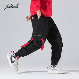 $enCountryForm.capitalKeyWord NZ - New Harajuku Cotton Multi-Pockets Safari Style Fashion Cargo Pants Men Autumn Hip Hop Streetwear Casual Elastic Trousers Camo