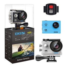 touchscreen hdmi UK - Original EKEN H9R with remote control 4K Ultra HD WiFi HDMI 1080P 2-inch LCD 170 Wide Angle Lens EIS Sports camera waterproof