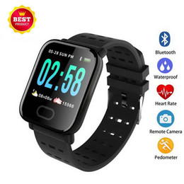 $enCountryForm.capitalKeyWord Australia - 2019 New A6 Wristband Touch Screen IP67 Water Resistant Smartwatch with Heart Rate Smart Bracelet Monitor Sport Running Smart Watch
