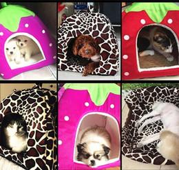 $enCountryForm.capitalKeyWord Australia - Ortilerri Soft Strawberry Cave Pet Dog House Nest Cat Rabbit Bed House Cute Kennel Nest Washable Cushion Baskets for Puppy Home