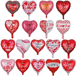 balloons children UK - 18Inch Valentine's Day Ballons I love you Wedding Party Balloons Decorative Aluminum Film Birthday Balloon Children Toy RRA2818