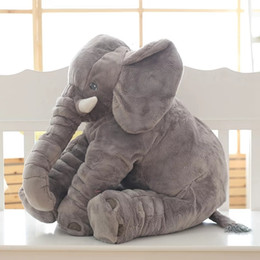 elephant bedding Australia - 1pc 60cm Fashion Baby Animal Elephant Style Doll Stuffed Elephant Plush Pillow Kids Toy Children Room Bed Decoration Toys SH190913