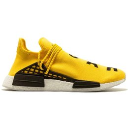 $enCountryForm.capitalKeyWord Australia - Hot Sale Human Race Mens Womens Shoes Sneakers Authentic Basketball Walking Casual Discounted Shoes Sneakers Yellow Full Set Colors 36-45
