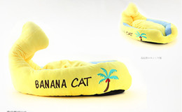 $enCountryForm.capitalKeyWord Australia - Banana Boat Pet Cushion Dog Bed House Cat Bed Cushion Kennel Pens Doggy Puppy Sofa Sleeping Bag Warm Free Shipping 1PC